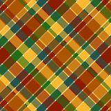 Fall Plaid Pattern. Bold plaid background pattern in fall colors Royalty Free Stock Photography