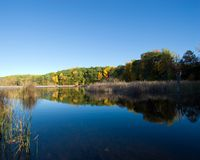 Fall Pond Royalty Free Stock Images