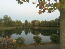 Fall at the Pond. Fall colors and reflection pond Royalty Free Stock Photography