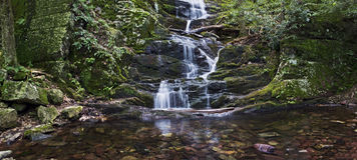 Fall-Pool-Panorama lizenzfreie stockfotos