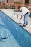 Fall pool service stock image