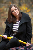 Fall portrait of a beautiful woman Stock Photography