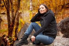 Fall portrait of a beautiful woman Royalty Free Stock Photo