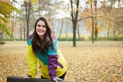 Fall portrait of young woman Stock Photos