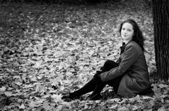 Fall portret BW Royalty Free Stock Photos