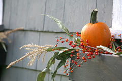 Fall Pumpkin Decoration royalty free stock photo