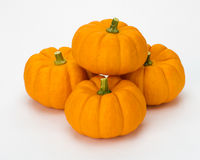 Fall pumpkins stacked for decoration Royalty Free Stock Photos