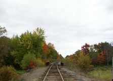 Fall Rail Ride Stock Photo