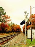 Fall railroad Stock Photography