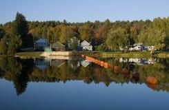Fall Reflection. Upstate New York Fall River Reflection Stock Photos