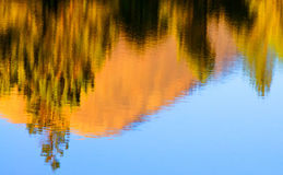 Fall Reflection In Lake Stock Image