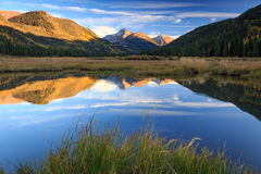 Fall reflection in the Uinta Mountains. Stock Images