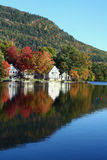 Fall Reflections. Fall foliage colors reflected in a Vermont lake royalty free stock photo