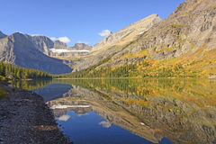 Fall Reflections on an Alpine Lake Royalty Free Stock Images