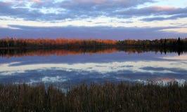 Fall reflections at Moberg Lake Royalty Free Stock Photography