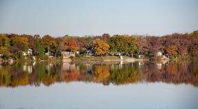 Fall Reflections On Paddock Lake Royalty Free Stock Photo