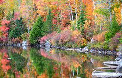 Fall reflections  in vermont. Country side Royalty Free Stock Image