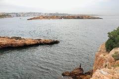 Fall in resort of Illetes. Palma-de-Majorca, Spain Royalty Free Stock Photography