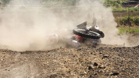 Fall of rider motocross Royalty Free Stock Photos
