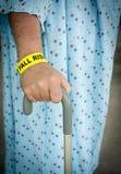 Fall-Risiko am Krankenhaus Stockfoto