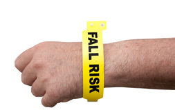 Fall Risk Bracelet Royalty Free Stock Photography