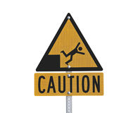 Fall Risk Caution Sign Royalty Free Stock Photos