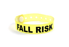 Fall risk patient wristband Stock Photo