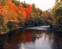 Fall by the River Royalty Free Stock Photo