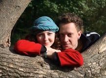 Fall Romance, portrait of loving couple stock image