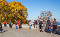 Fall on Royal Mountain. Royal Mountain is a popular spot for tourists in Montreal, especially during Fall season stock image