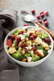 Fall salad with apple and broccoli Royalty Free Stock Photography