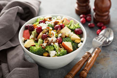 Fall salad with apple and broccoli Royalty Free Stock Photo