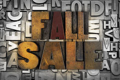 Fall Sale Royalty Free Stock Photo