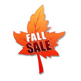 Fall sale in 3d leaf Stock Images