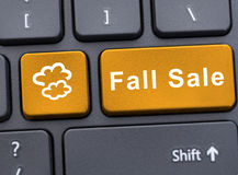 Fall sale button on computer keypad. As discount concept Royalty Free Stock Image
