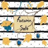 Fall Sale Card. Advertising Royalty Free Stock Photos