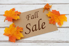 Fall Sale Card Stock Photography