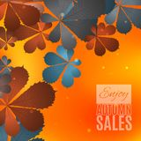 Fall sale design. Enjoy autumn sales banner. Royalty Free Stock Photography