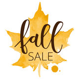 Fall sale hand written inscription Royalty Free Stock Images