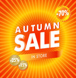 Fall Sale Royalty Free Stock Images