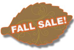 Fall sale on a leaf stock images