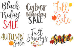 Fall Sale Tags Royalty Free Stock Photography