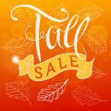 Fall Sale Royalty Free Stock Photography