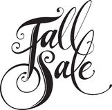 Fall Sale. Vector version of my own calligraphy Stock Photography