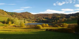 Fall savoie landscape Royalty Free Stock Photo