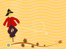 Fall scarecrow background Stock Images