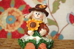 Fall Scarecrow Girl Stock Photos