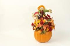 Fall Scarecrows Thanksgiving Pumkin Royalty Free Stock Photo