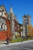 Fall scene on university campus Stock Photos
