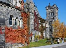 Fall scene on university campus Royalty Free Stock Photo